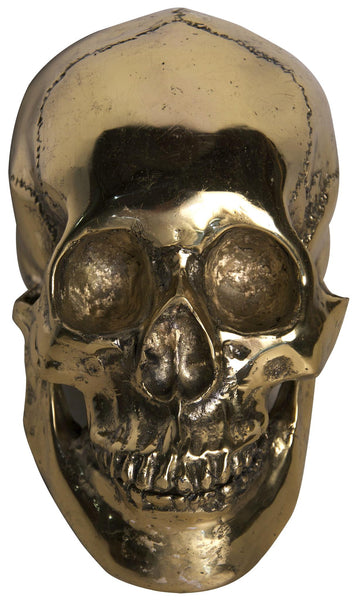 Large Skull Sculpture, Brass