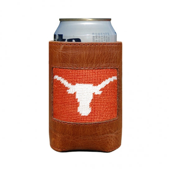 Texas (Burnt Orange) Needlepoint Can Cooler