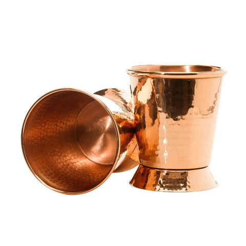 Hammered Copper Derby Mint Julep Cup, 12 oz.