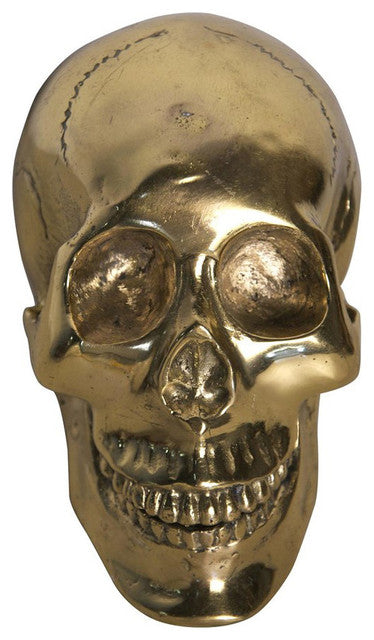 Brass Skull Sculpture