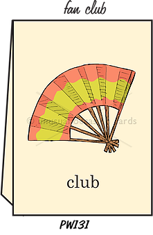 "Blank Greeting Card - ""Fan Club"""