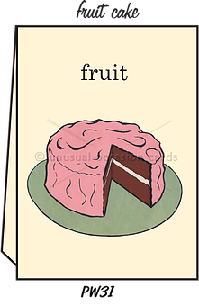 "Blank Greeting Card - ""Fruit Cake"""