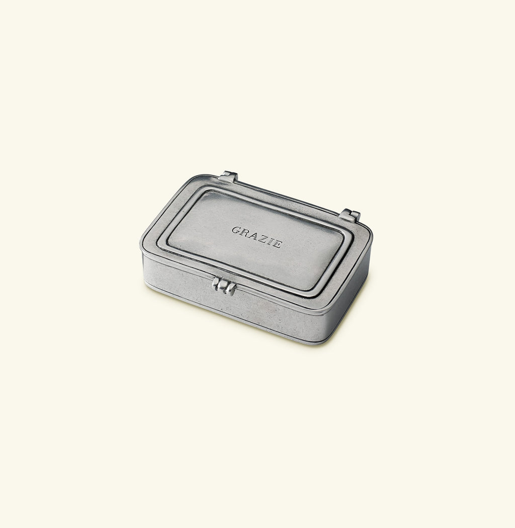 "MATCH Pewter ""GRAZIE"" Lidded Box"
