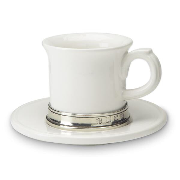 MATCH Pewter - Espresso Cup with Ceramic Saucer