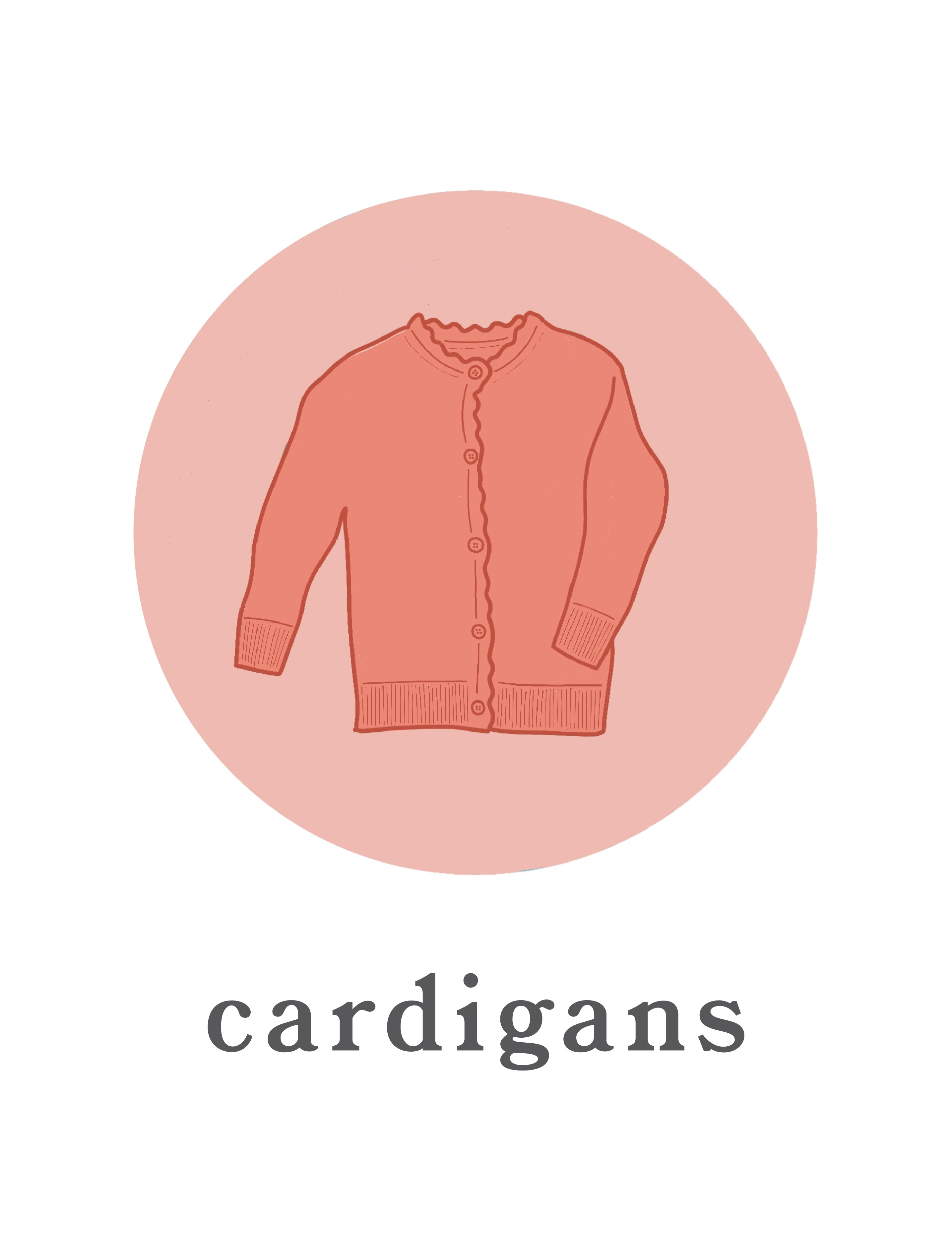 Girls and Baby knit cardigans
