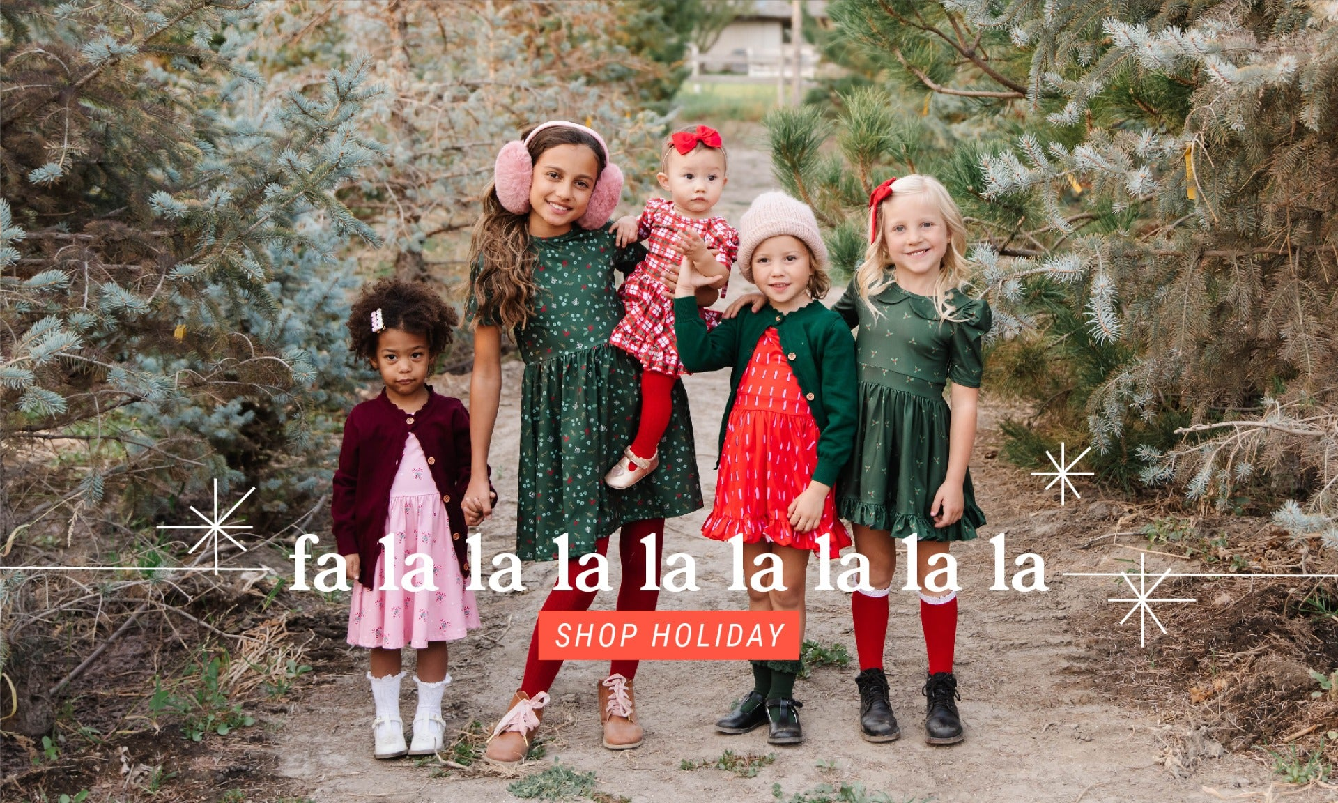 girls and babies holiday dresses