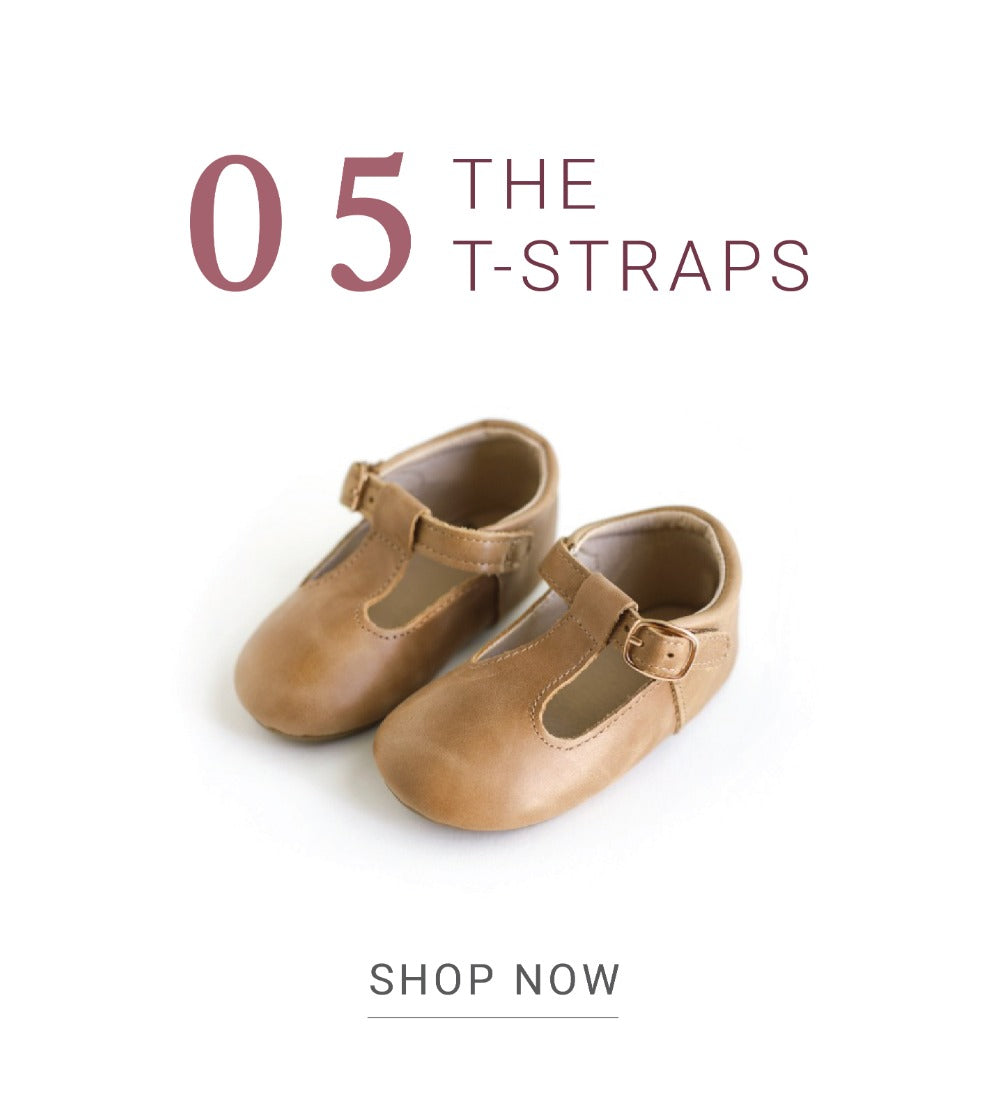 babies, girls, and toddlers vintage-inspired t-strap leather shoes