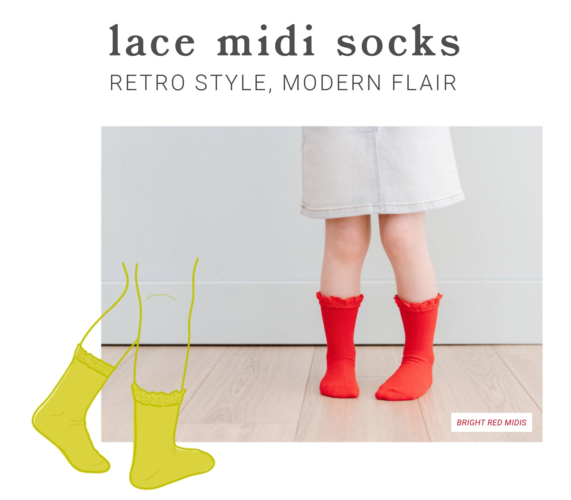 girls, babies, and toddlers lace midi socks