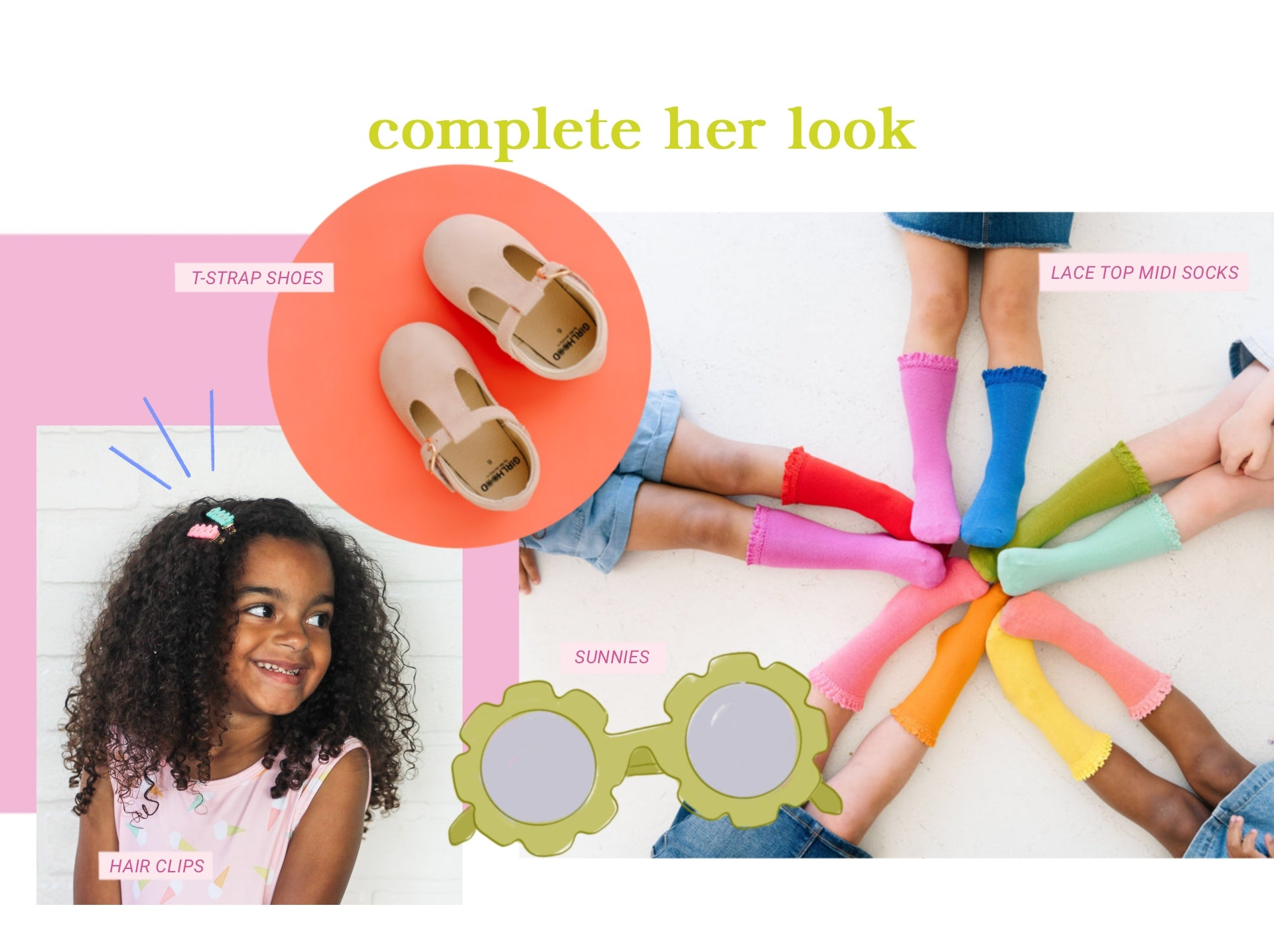 Girls accessories for babies and toddlers and kids