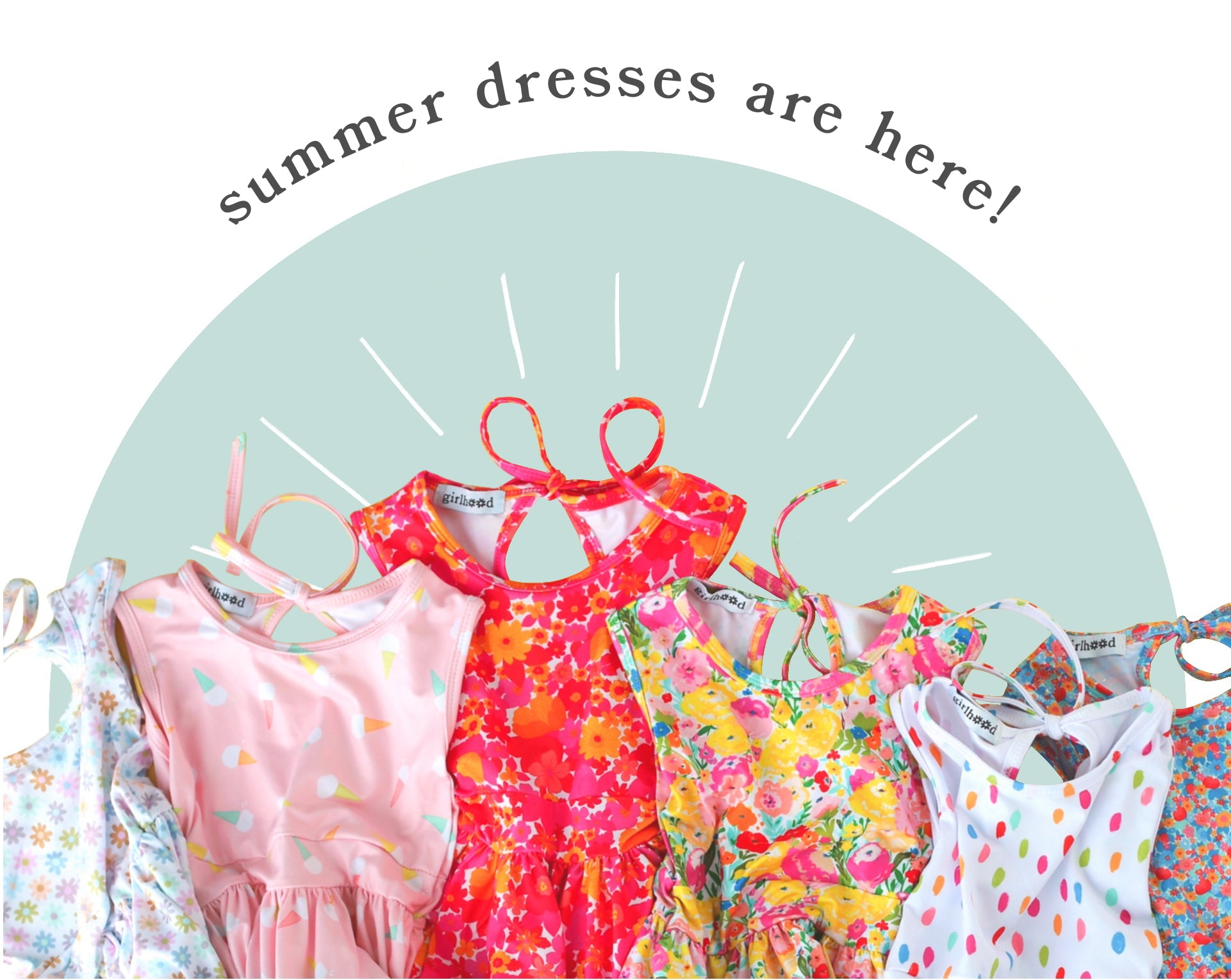 Girls, babies, and toddlers summer dresses