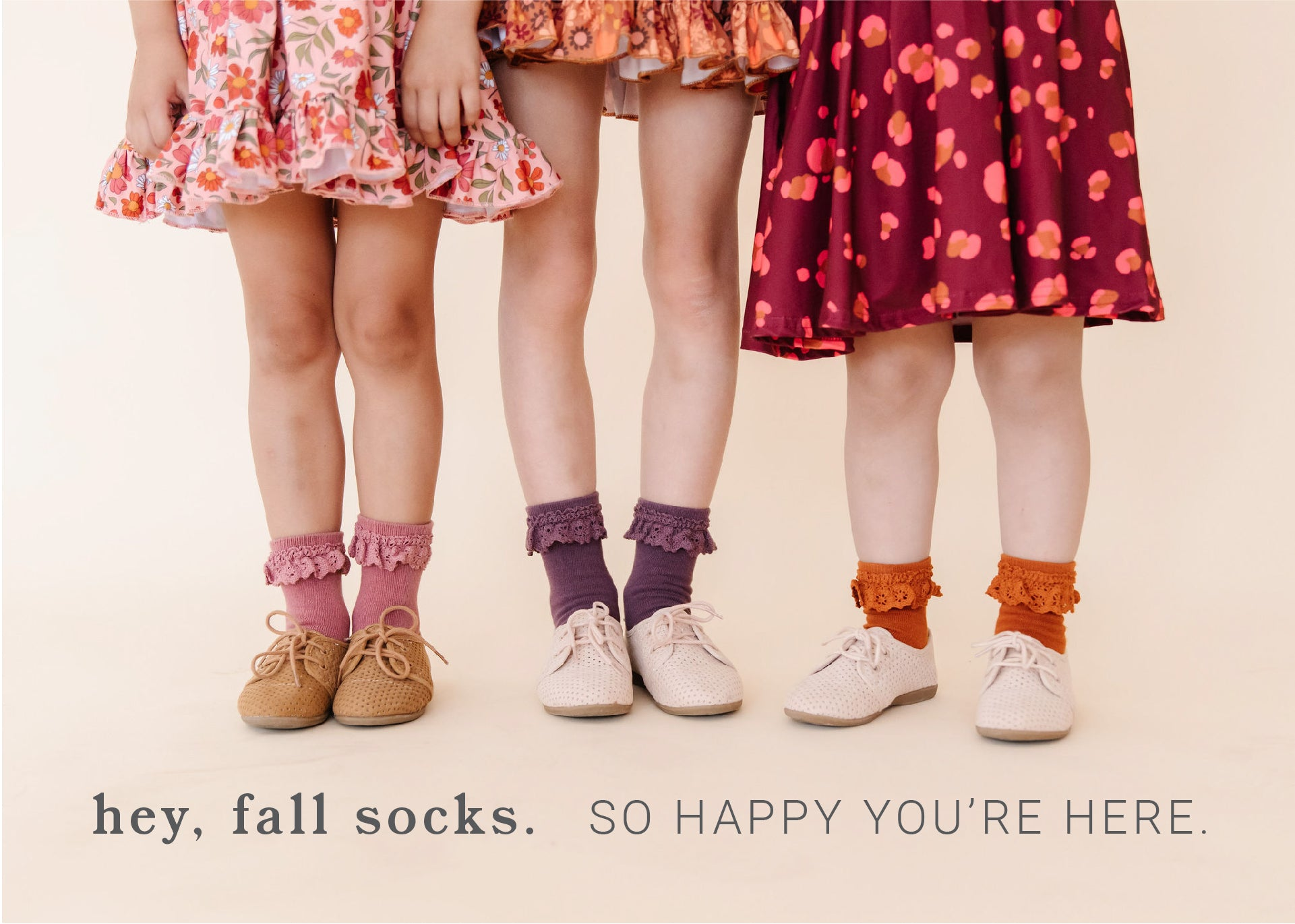 Girls and toddlers vintage-inspired fall midi socks