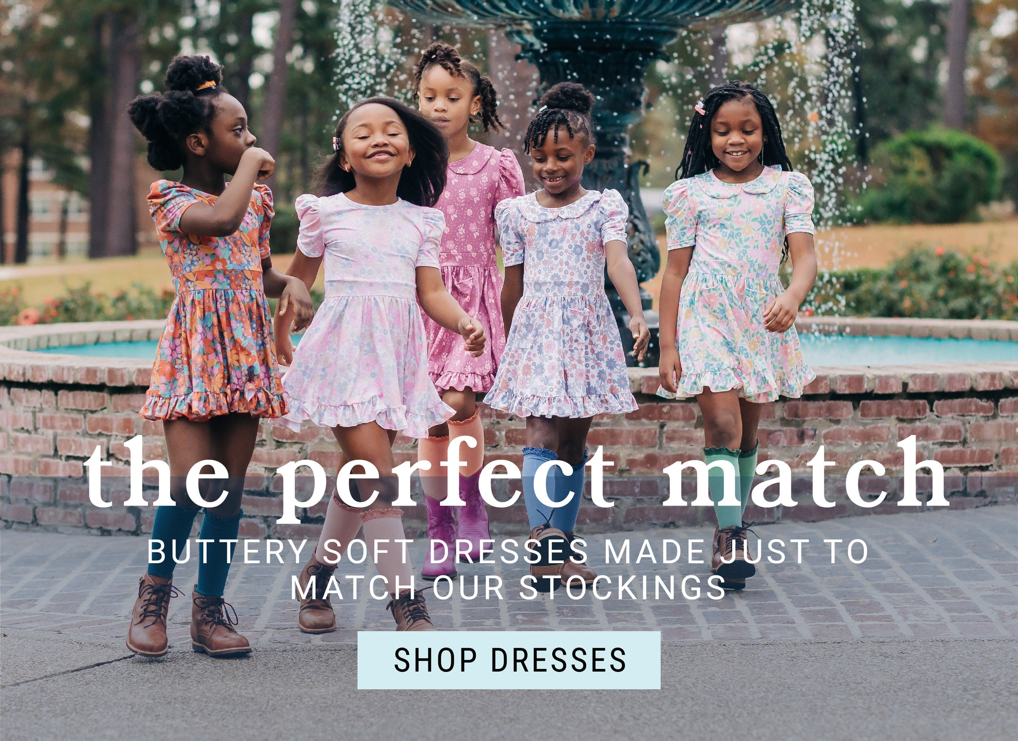 Soft play dresses made to match knee high stockings