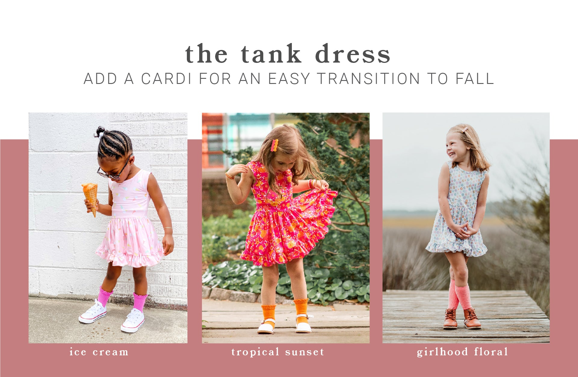Girls, babies, and toddlers cute summer tank dresses