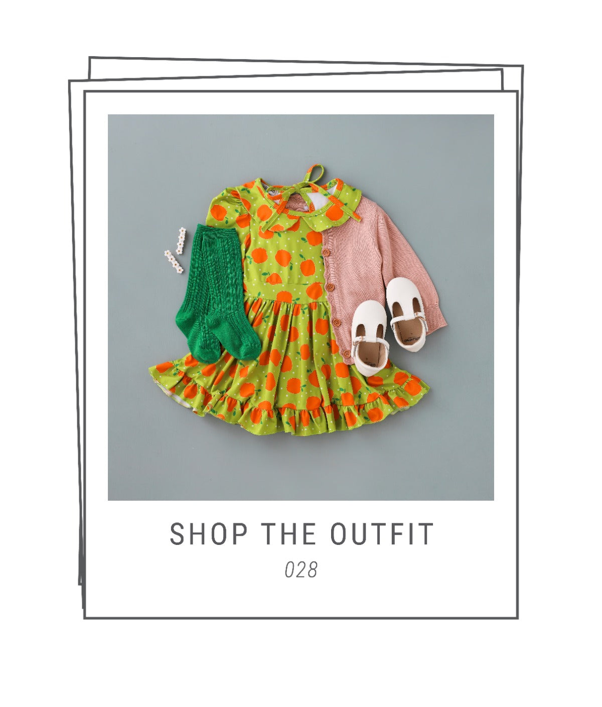 Girls fall apple dress and outfit
