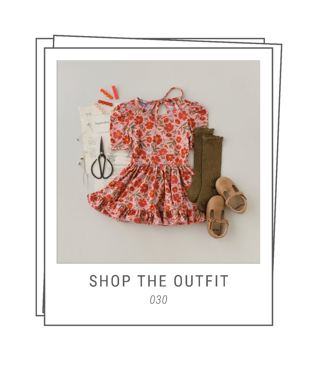 Back to school outfit with dress and cardigan and tights