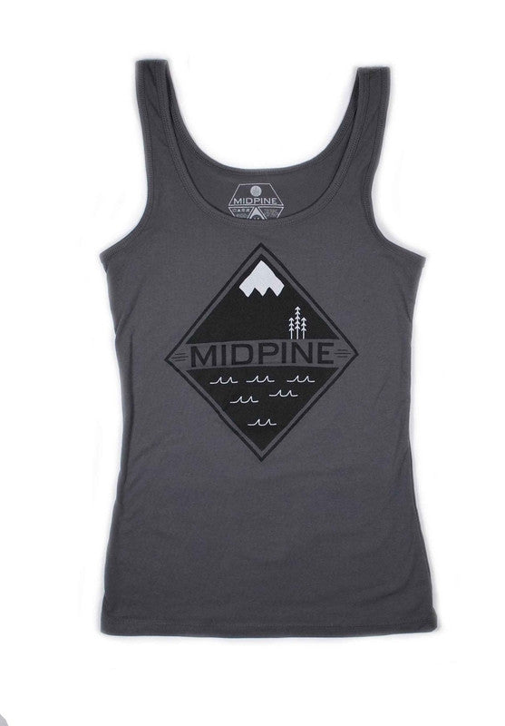 WOMENS LAND AND SEA TANK-MIDPINE