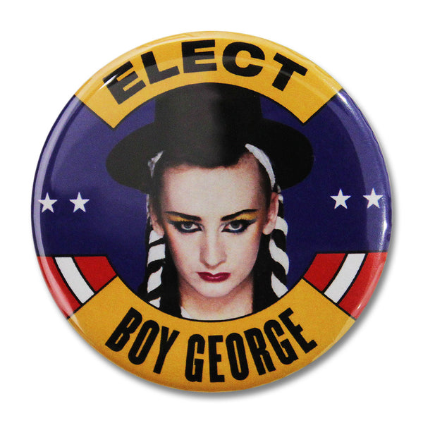 Official Culture Club Elect Boy George Button