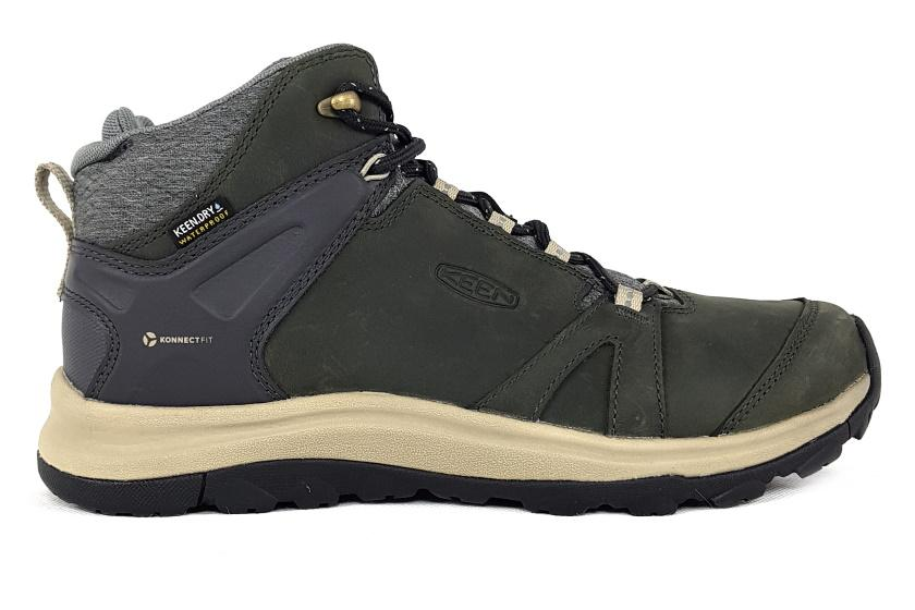 Keen Women's Terradora II Leather Mid WP Boots Waterproof Shoe Magnet Plaza Taupe / US8 | EU38.5 | UK5.5 | 25CM