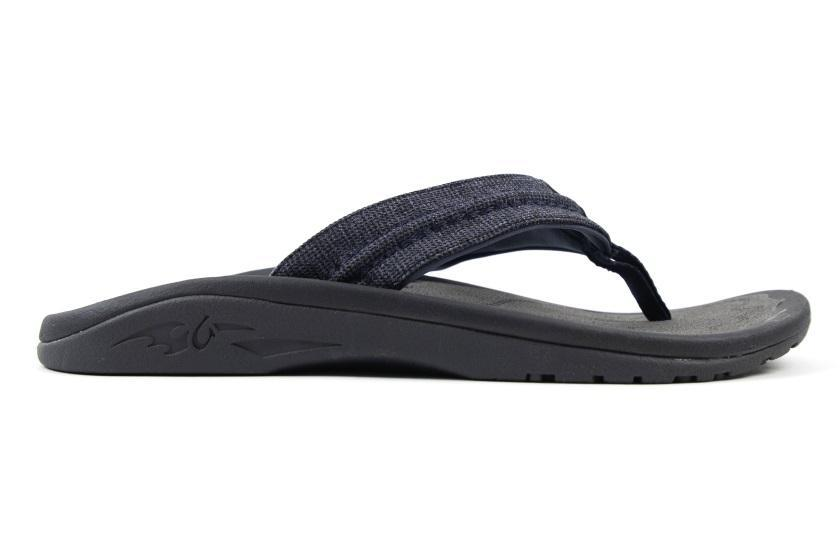 OluKai Men's Hokua Mesh Sandal US9 | EU42 | UK8.5 | 26CM / Night/Charcoal