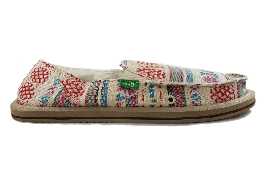 Sanuk Women's Donna Slip- On US5 | EU36 | UK3 | 22.3CM / Natural Poncho