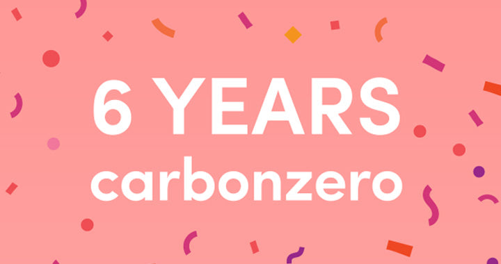 Celebrating SIX years of being carbonzero!