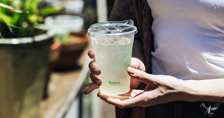 Ecoware innovation – our new straw-free clear cup lid!