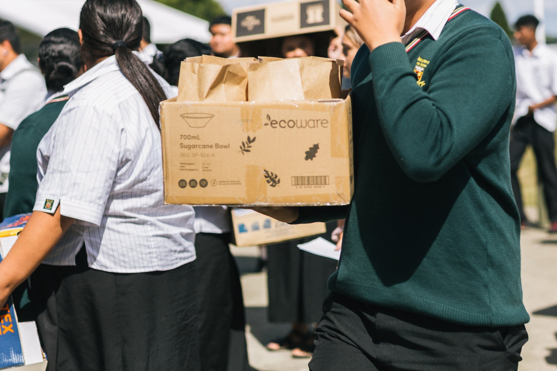 Ka Ora, Ka Ako School Lunches at Manurewa High School in Ecoware compostable packaging