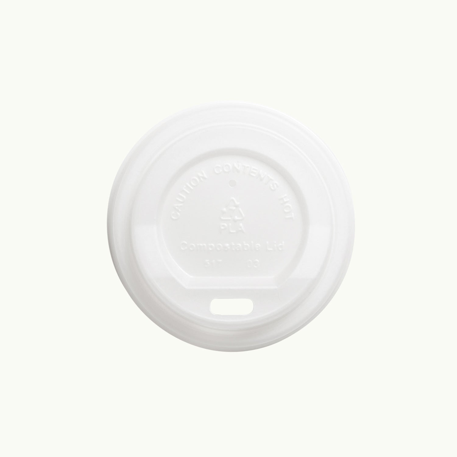 Bioplastic EcoCup Lid - WHITE