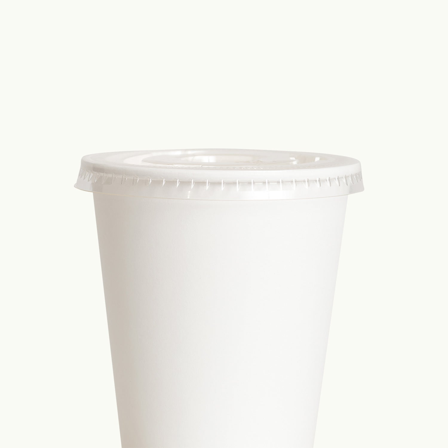 Bioplastic EcoCup Lid with Straw Hole