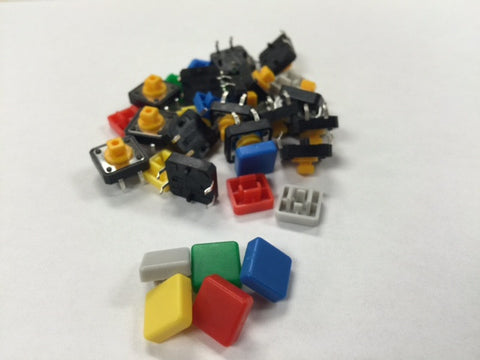 Colorful tactile switches 6mm