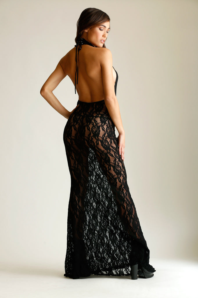 All Tied Up Lace Gown