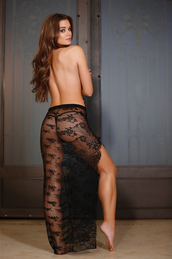 Wanderlust Lace Slit Skirt