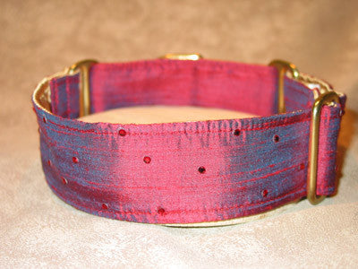 Dog collars for small or large Dogs - European Silk  w/ Swarovski Crystals