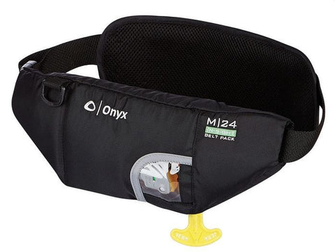 ONYX  M-24 In-Sight Manual Inflatable SUP Belt Pack Life Jacket (PFD) w/ Bottle Holder