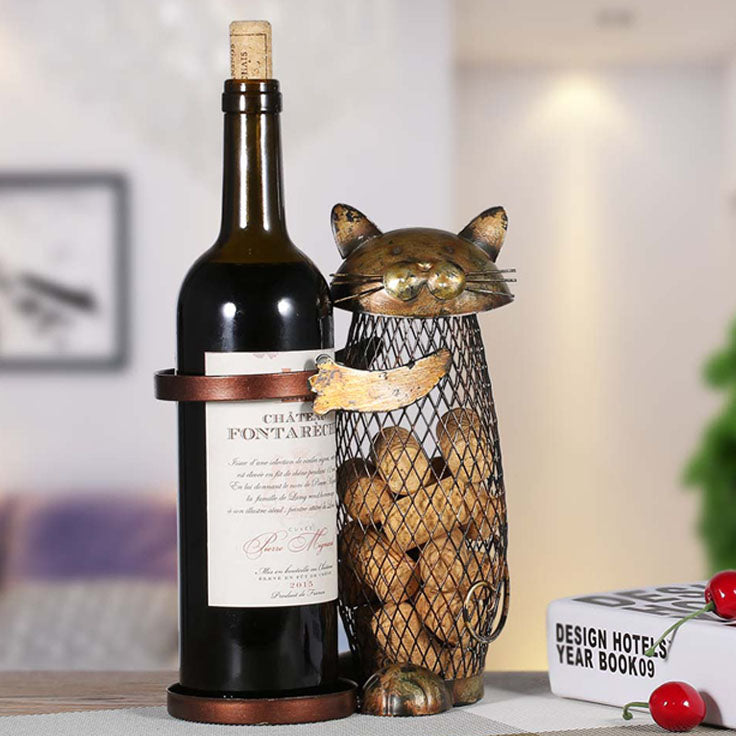 Cat Wine Rack - Cork Collector