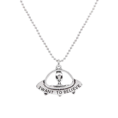 I Want To Believe - Alien Necklace