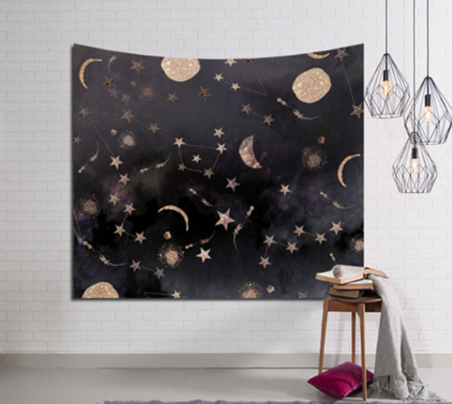Moons and Stars Tapestry