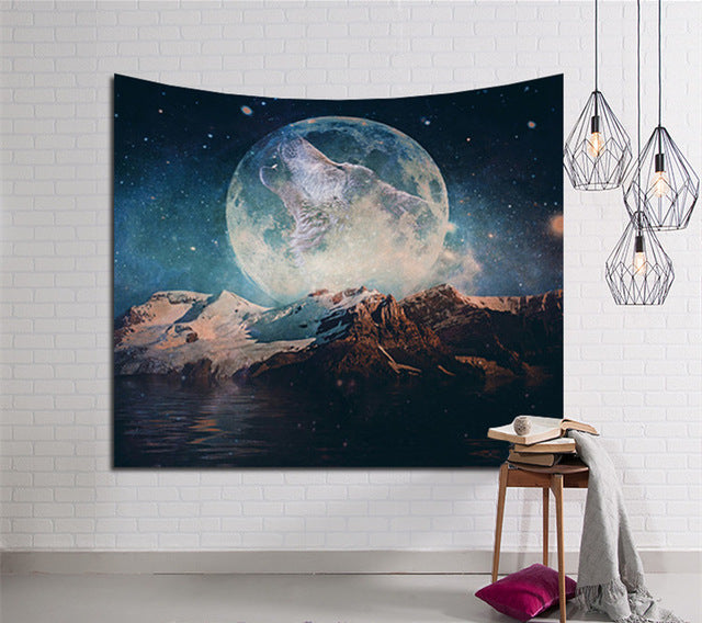 Galaxy Moon Tapestry
