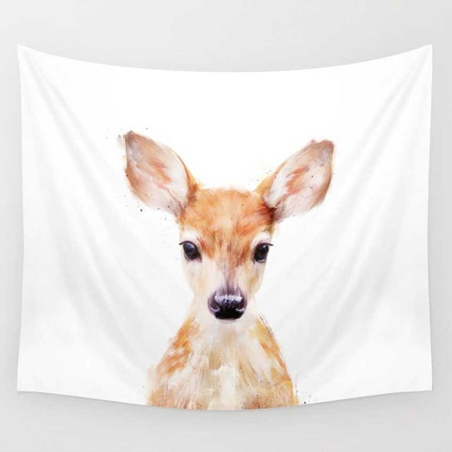 Watercolor Fawn Tapestry