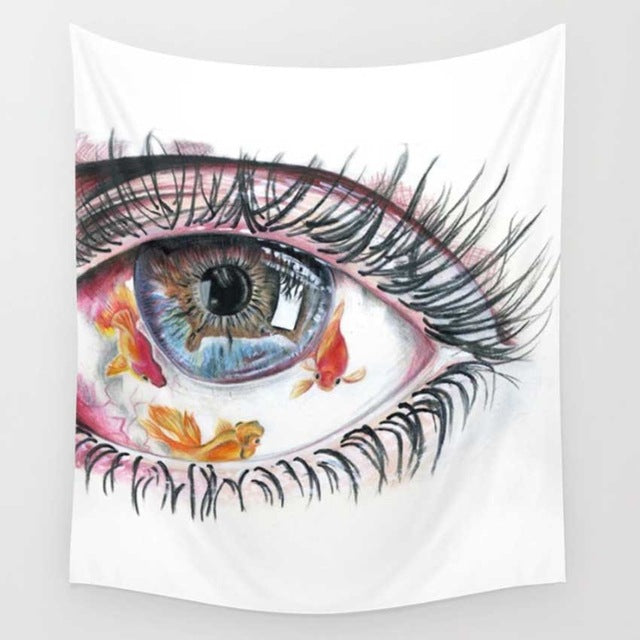 Koi Eye Tapestry