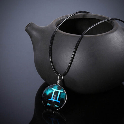 Crystal Blue Zodiac Necklaces