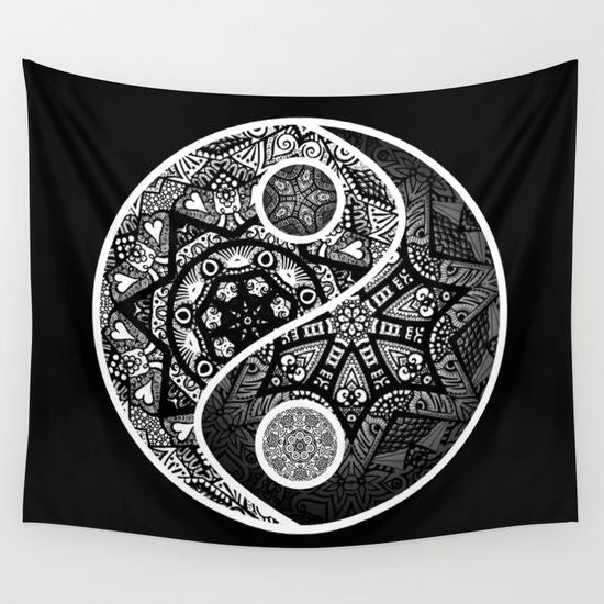 Patterned Yin Yang Tapestry
