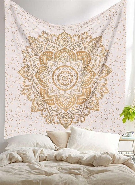 Cream Mandala Tapestry