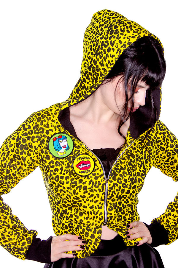 Yellow leopard hoodie Jessica Louise