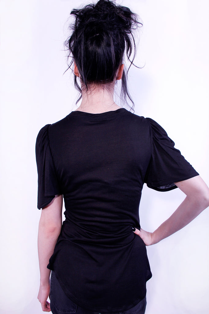 flutter sleeve basic tee by Jessica Louise