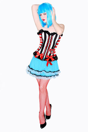 Candy Stripe Corset Costume Top