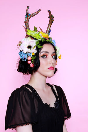 Alectrona Crystal Resin Antler Crown - shopjessicalouise.com