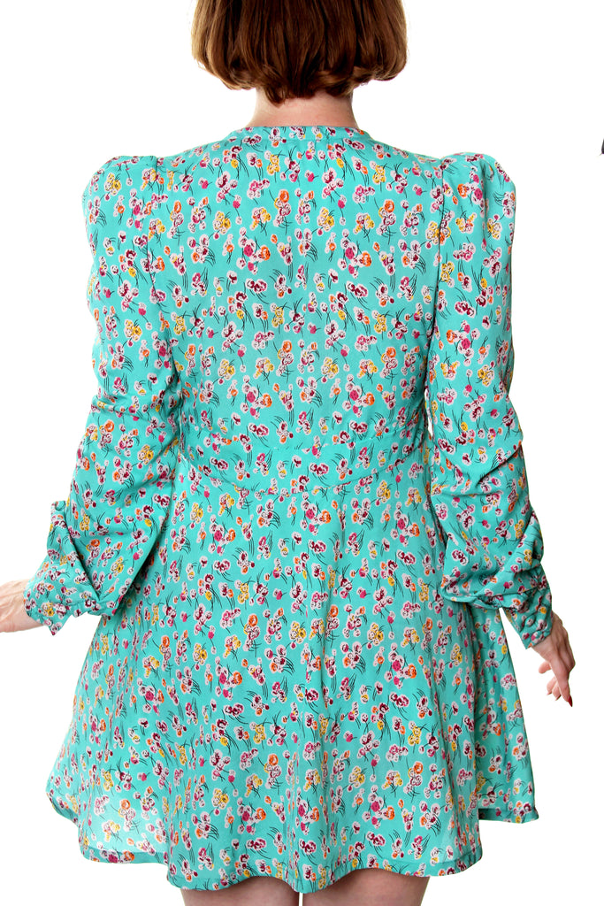 Brigitte long sleeve button front dress