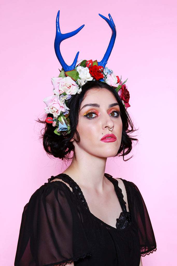 Antler Flower Crown, Jessica Louise hand cast antler head piece