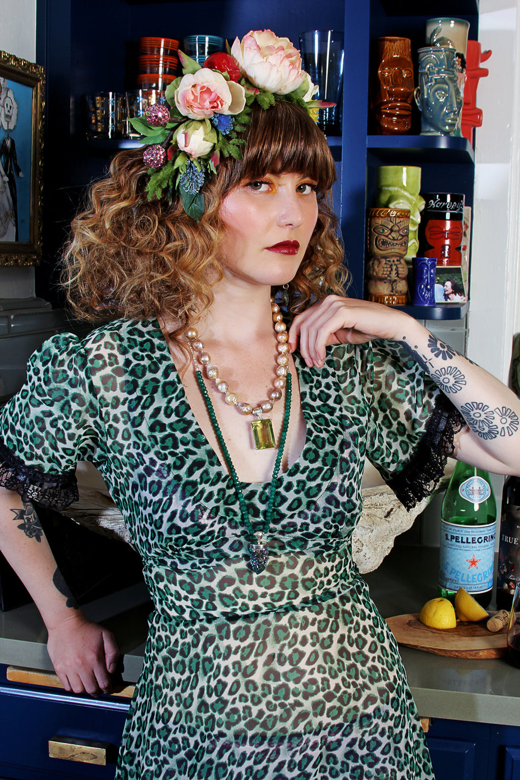 Vali Maxi Dress In Green Leopard ONE OF A KIND PC - shopjessicalouise.com